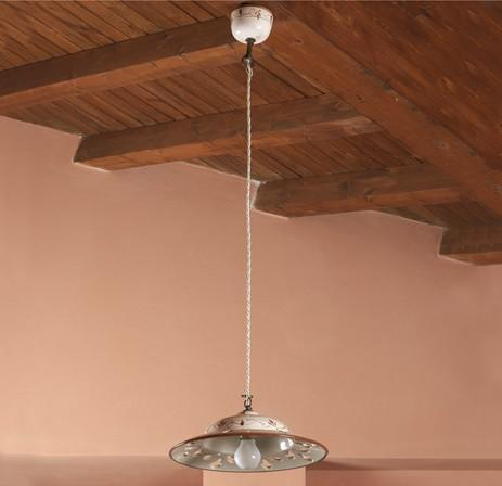 SUSPENSION IN CLAY Rustic suspended lamps
