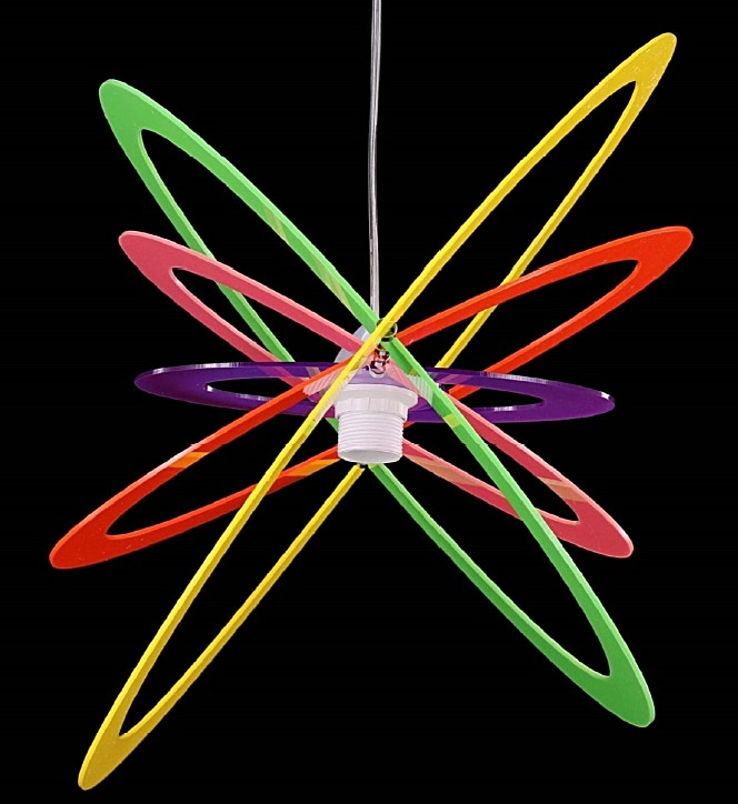 SUSPENSION PLEXIGLAS COLORED Kid's suspended lamps