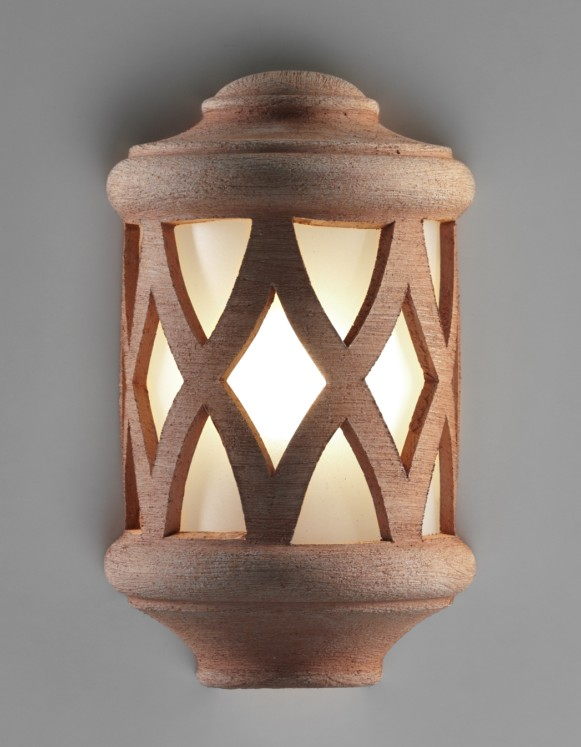1007 WALL LAMP CERAMIC FINISH COLOR TERRACOTTA Classical exterior wall lighting