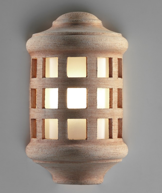 1024 WALL LAMP CERAMIC FINISH COLOR TERRACOTTA Classical exterior wall lighting