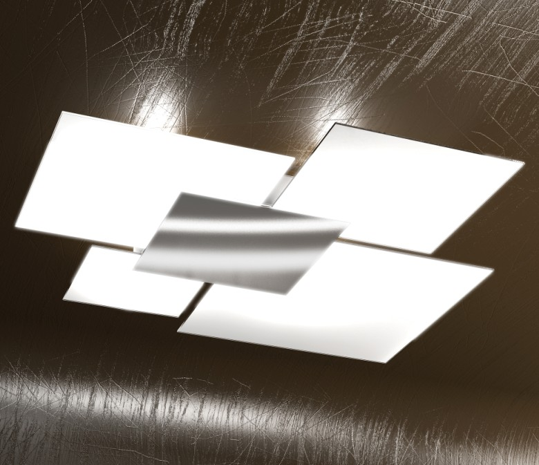 Shadow plafoniera in metallo top light illuminazione for Plafoniere moderne