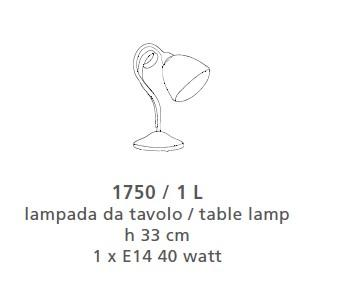 1750 TABLE LAMP 1 LIGHT Classic table lamps