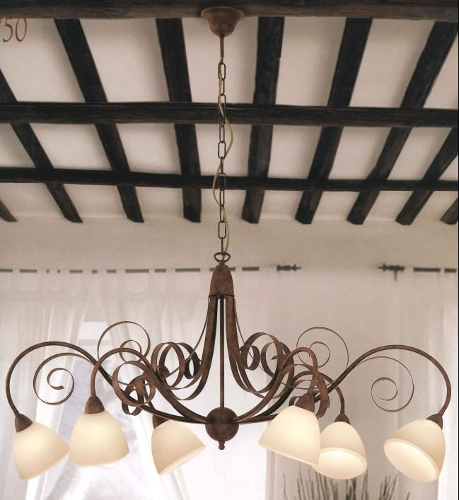 1750 CHANDELIER 6 LIGHTS Classic suspended lamps
