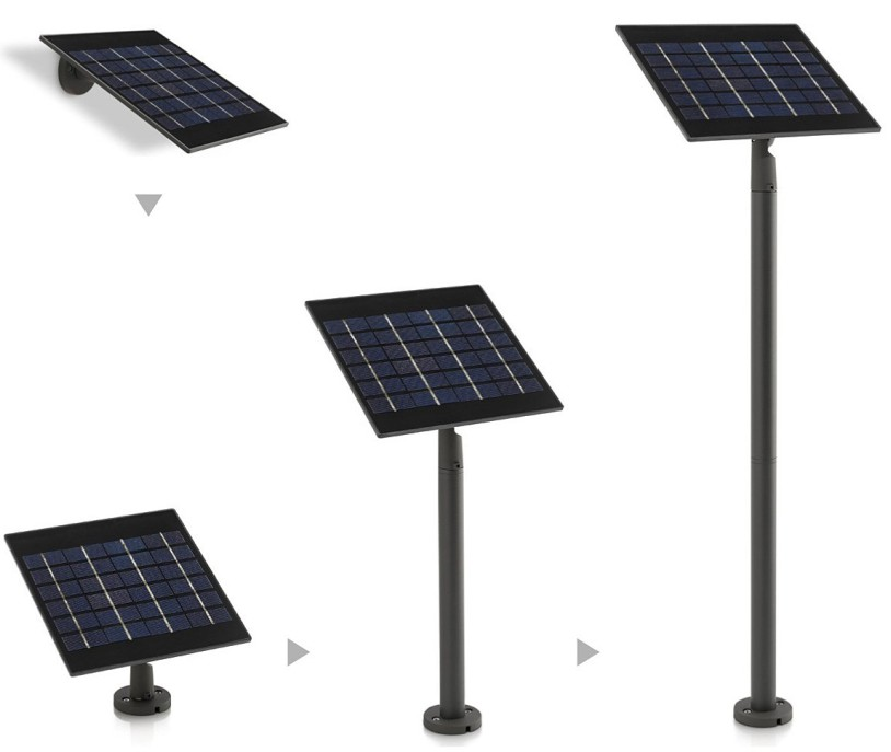 MOON FLOOR LAMP LED SOLAR PANEL WITH SEPARATE Modern exterior LED with Solar Panel