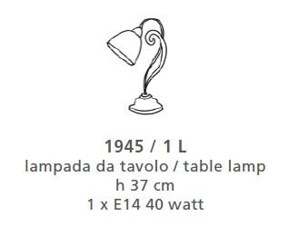 1945 TABLE LAMP SMALL Classic table lamps