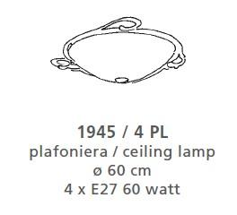 1945 CEILING LAMP BIG Classic overhead lights