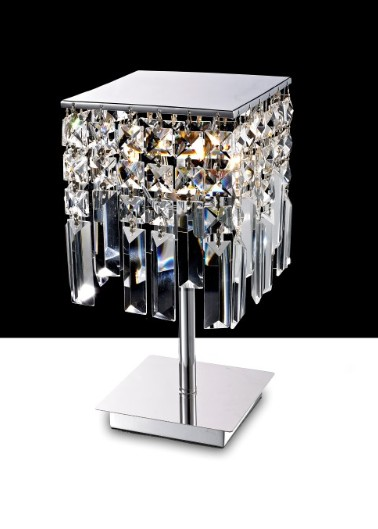 2200 LAMPADADA METAL TABLE WITH CHROME CRYSTAL CHAINS Crystal table lamps
