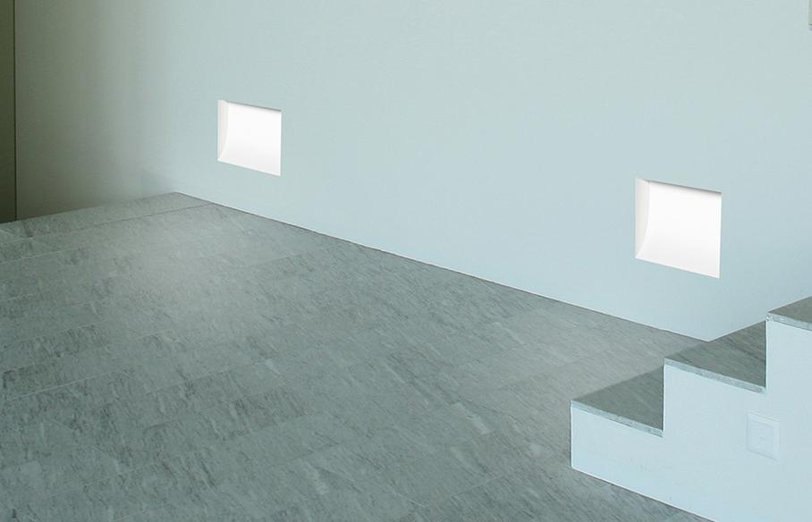 2416 RECESSED IN CHALK WALL WITH LIGHT ENERGY SAVING Recessed lights and spotlights