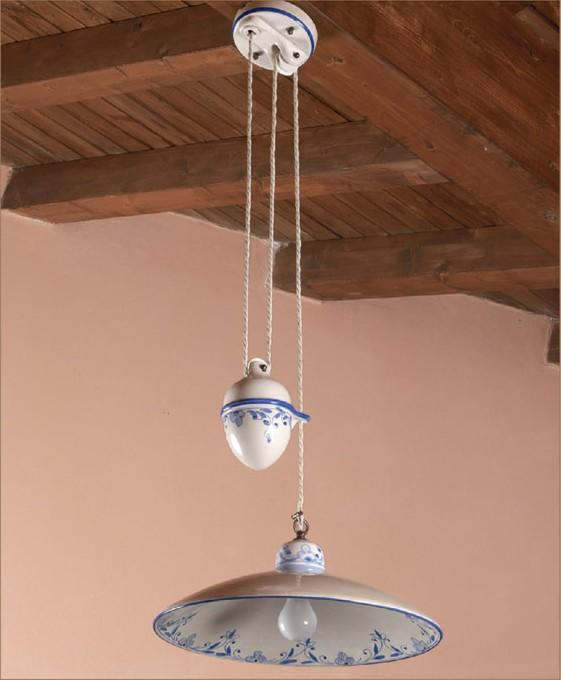 UP AND DOWN IN CLAY  Rustic suspended lamps