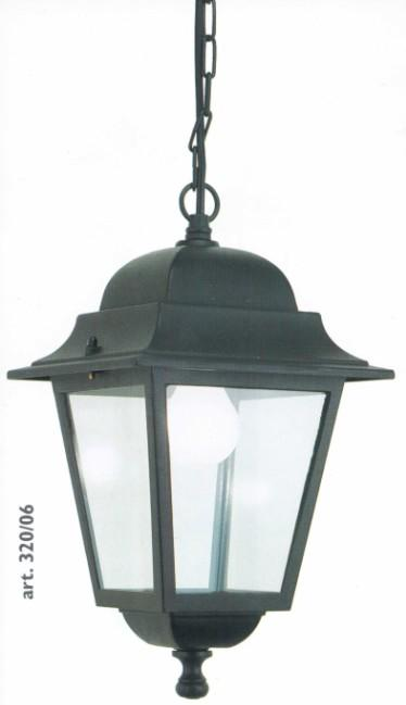 SUSPENSION SQUARE ALUMINIUM BLACK Classical external suspension lighting