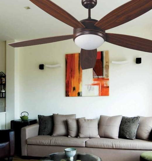 VANU DARK BROWN Classic ceiling fans with light