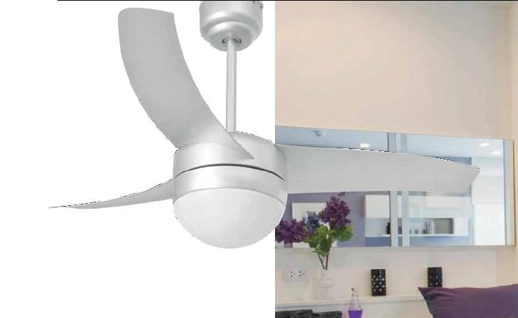 EASY GREY Modern ceiling fans with light