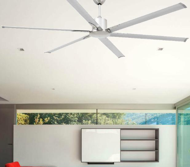 Andros ventilatore da soffitto senza luce 6 pale diametro - Ventilatori da soffitto design ...