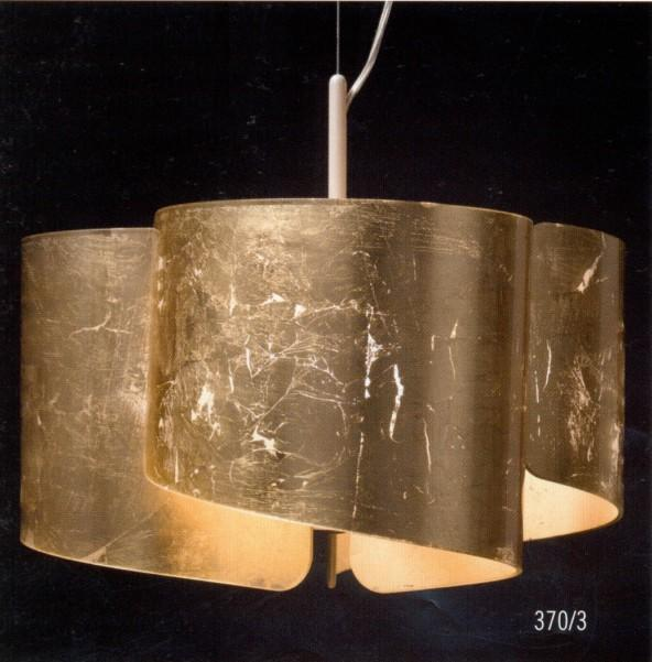 PAPYRUS GOLD LEAF SUSPENSION Modern suspended lamps
