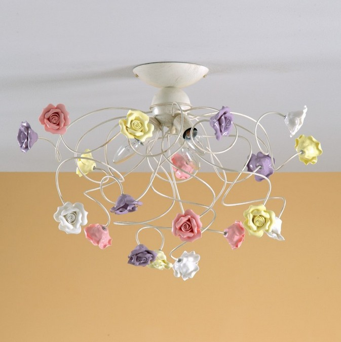 395/3 CEILING IN METAL WITH ROSES IN PORCELAIN Classic overhead lights