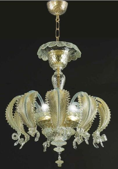 MURANO CHANDELIER 9 LEAVES 3 LIGHT Suspended Murano lamps