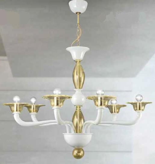 MURANO CHANDELIER 6 LIGHTS Suspended Murano lamps
