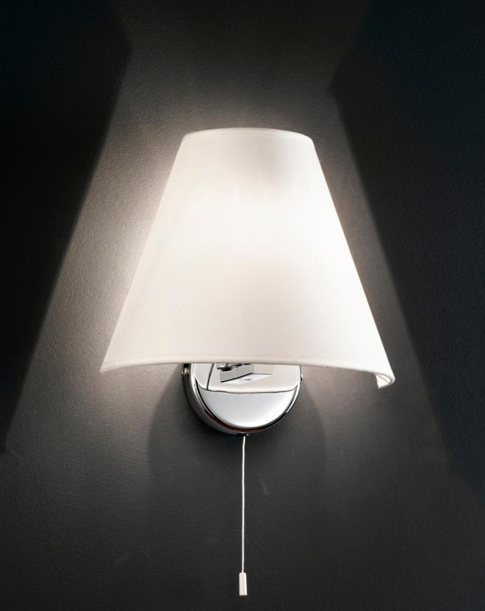 5108 WALL LAMP WITH SHADE IN WHITE FABRIC Modern wall lights