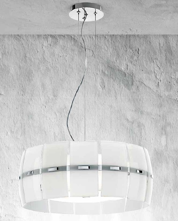 SUSPENSION WHITE GLASS Modern suspended lamps