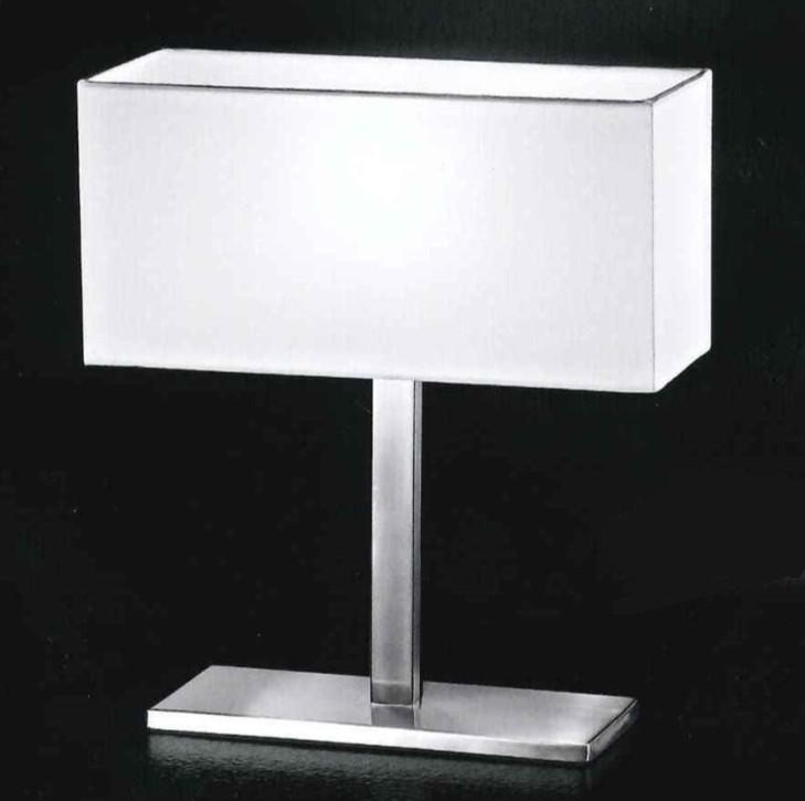 5884 TABLE LAMP CHROME BRUSHED WITH SHADE Modern table lamps