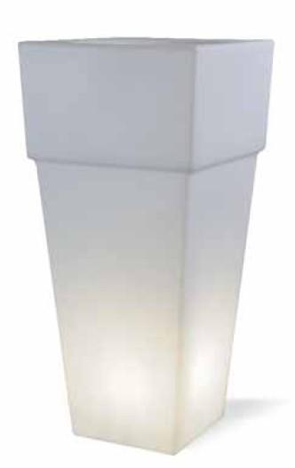 BIG SQUARE VASE Modern lamps to decorate the garden