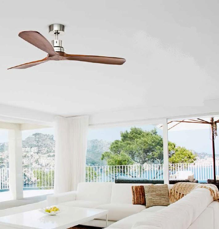 7142 FAN WITH PALE WOOD NATURAL COLOR Ceiling fans without light