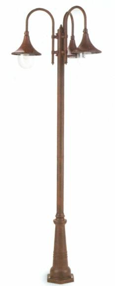 DELUXE ALUMINUM LIGHT POLE 3 Classic floor lamps for exterior use
