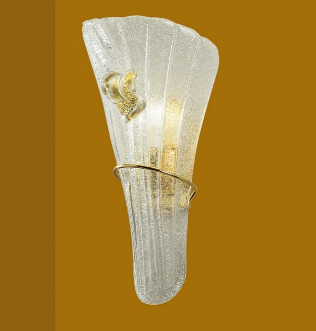 903 / AFL WALL LAMP IN GRIT EDGE AMBER Murano wall lights