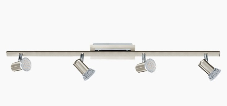 ROTTELLO BINARY 4 LED LIGHTS IN SATIN NICKEL Ceiling track lights and spotlights