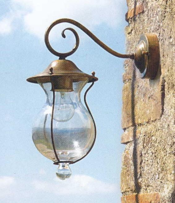 BACCHUS WALL SMALL BRASS OUTDOOR Classical exterior wall lighting