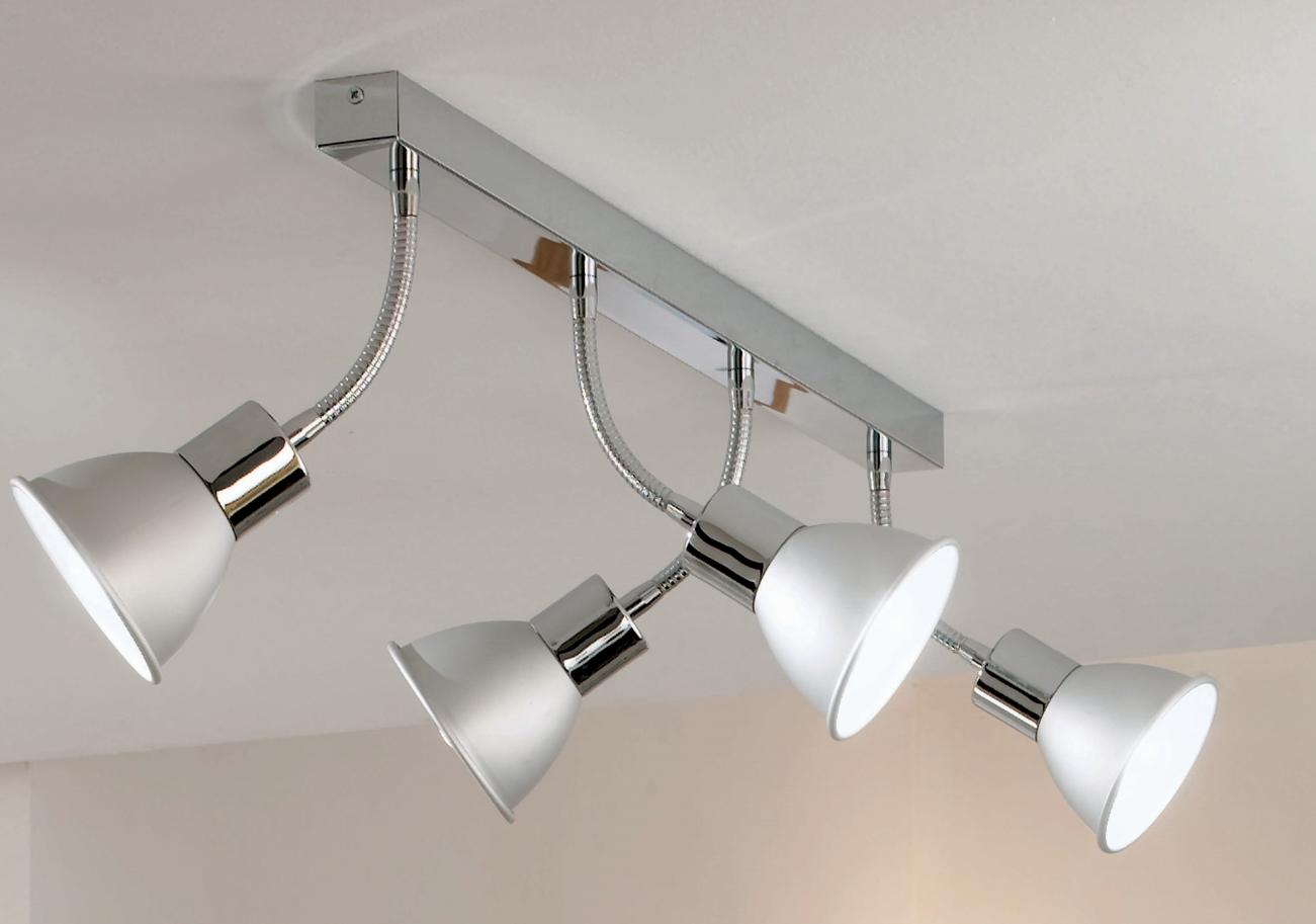BINGO TRACK 4 SPOT FLEXIBLE ARM Ceiling track lights and spotlights