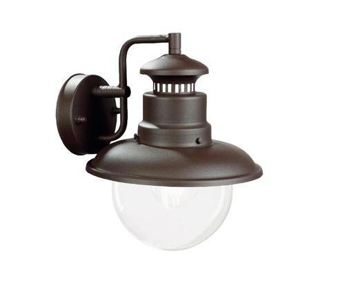 Calipso Outdoor Wall Lamp In Vintage Style Ip43 Brown Or Silver White By Sovil Sovil 590 Calipso Classical Exterior Wall Lighting