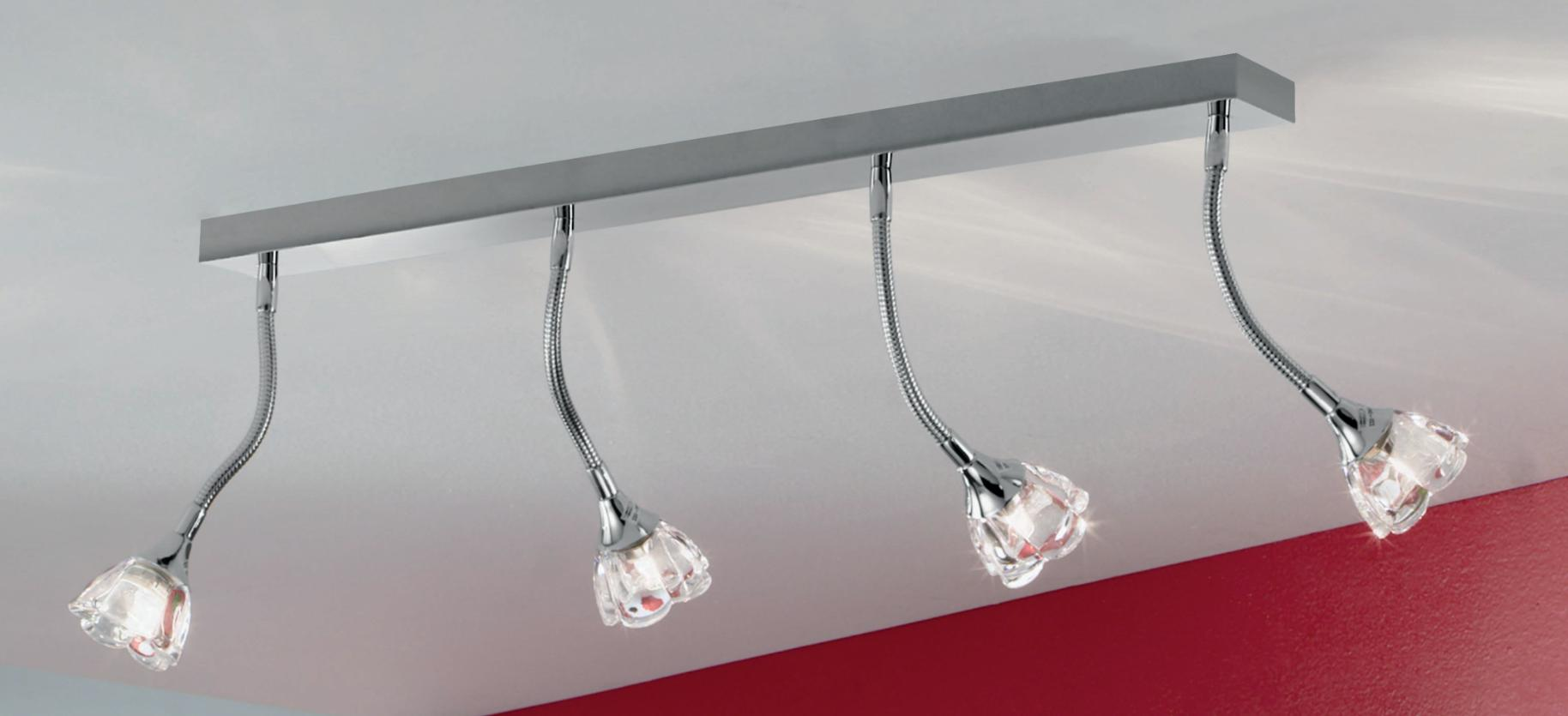 4 CLARA WALL / CEILING WITH FLEXIBLE ARM Ceiling track lights and spotlights