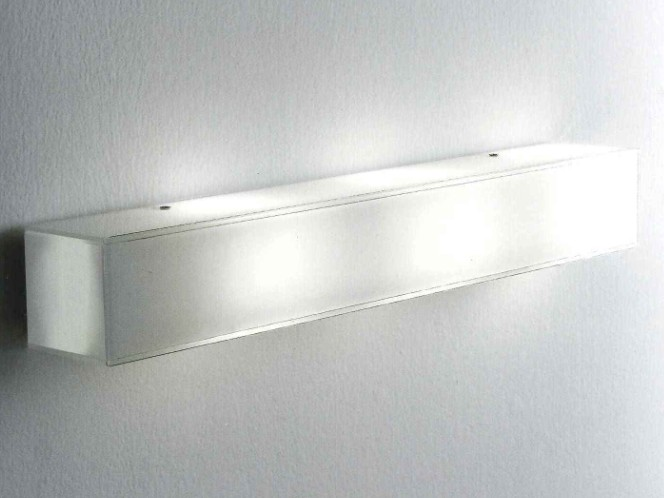 CUBIC WALL / CEILING LAMP WHITE MILK GLASS POLISHED Modern wall lights