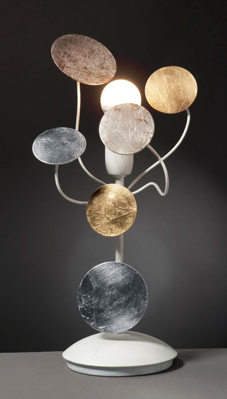 DISCS IN PAINTED METAL TABLE LAMP Modern table lamps