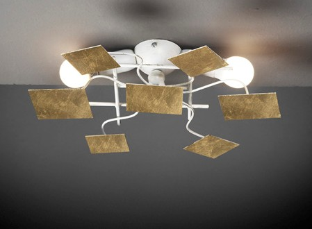 DISC LIGHT PAINTED METAL Modern overhead lights