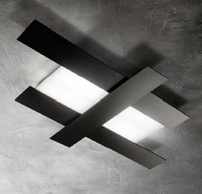 DOHA CEILING LAMP LED MEDIA IN BLACK OR WHITE Overhead LED lights