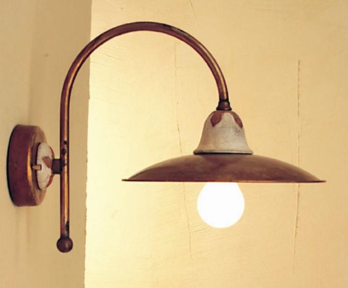 EMMA WALL BRASS AND CERAMIC Rustic wall lights