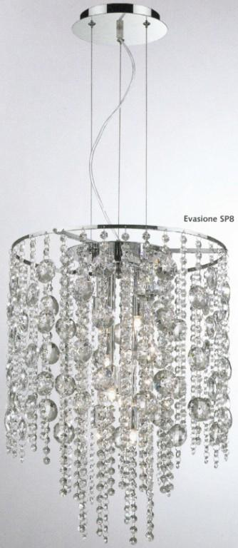 EXECUTION SUSPENSION CRYSTAL SP8 Crystal lamps Suspension
