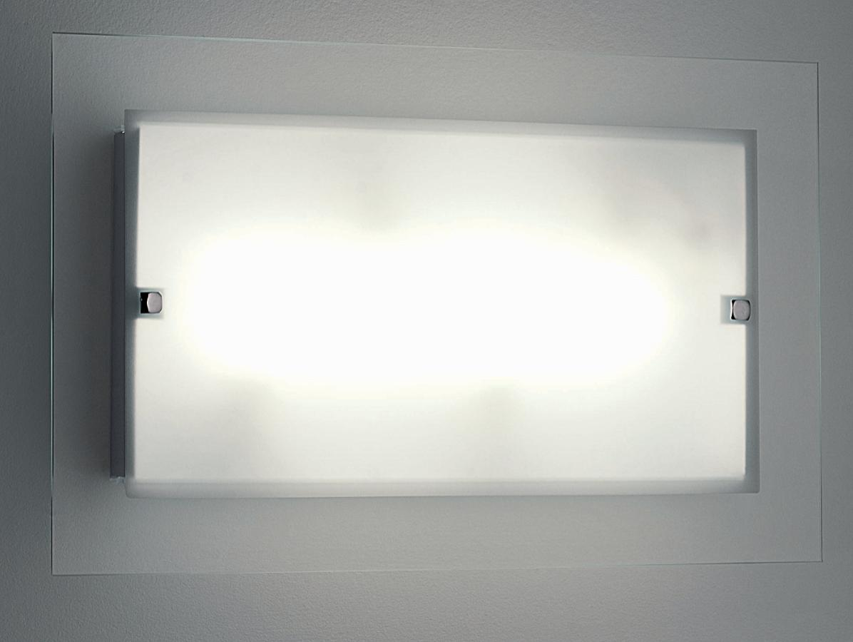FLAT GLASS CEILING IN LARGE RECTANGULAR Modern overhead lights