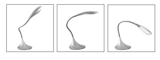 LED TABLE LAMP WITH FLEXIBLE ARM IN VARIOUS COLORS Modern office lamps