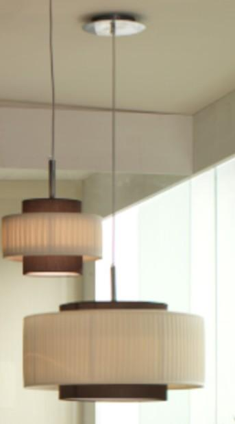 LIU 'SHADE PLISSE' Modern suspended lamps