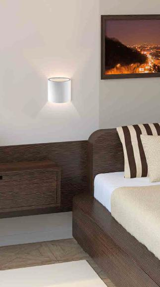 ELI PLASTER WALL LAMP LED Lamps wall ceramic / gypsum
