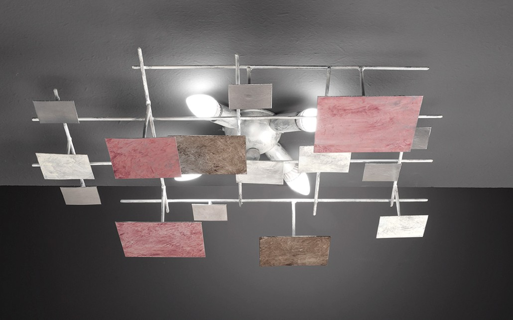 SQUARE CEILING LIGHT PAINTED METAL Modern overhead lights