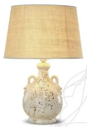 R 45056-28 TABLE LAMP LARGE CERAMIC Rustic table lamps