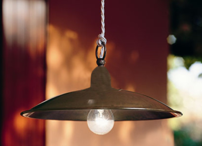 SUSPENSION WITH A METAL PLATE 44 Classic suspended lamps