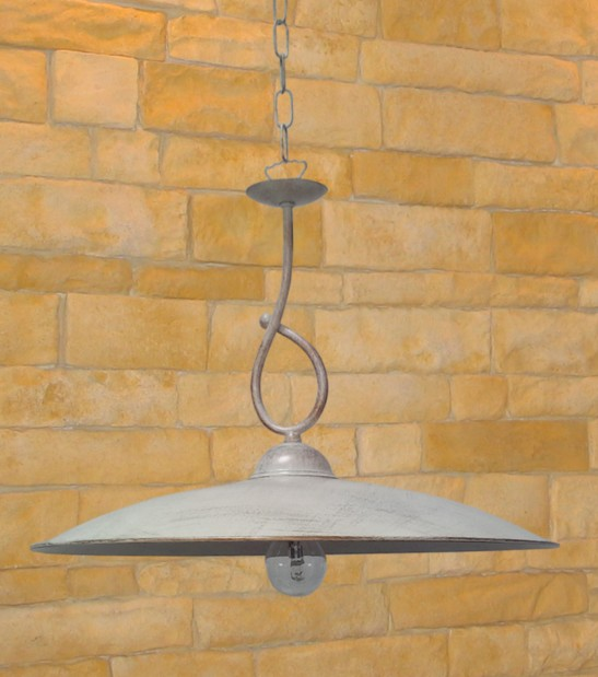 SUSPENSION WITH METAL PLATE D 30 Classical external suspension lighting