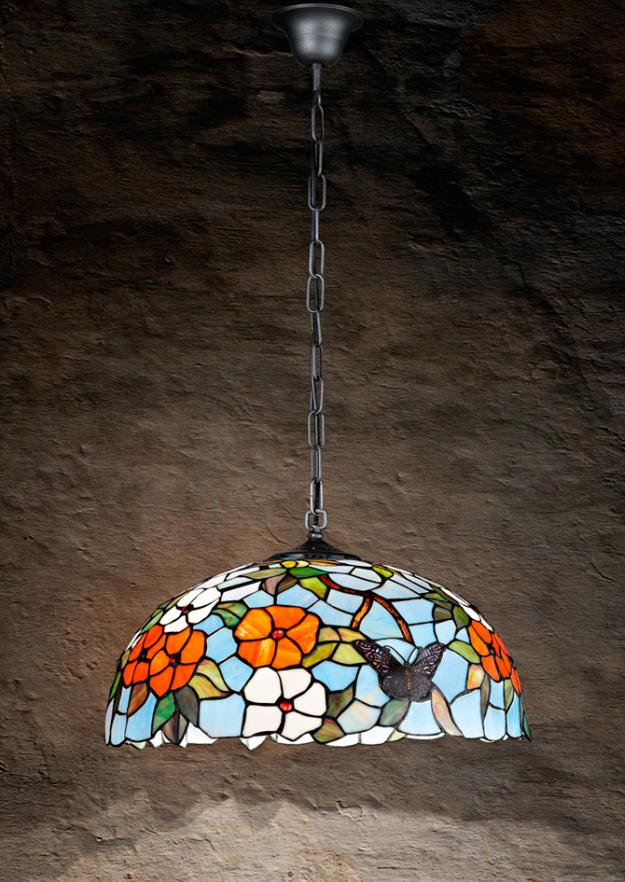 T998-S SUSPENSION IN TIFFANY GLASS DIAMETER 40 Suspended Tiffany lamps