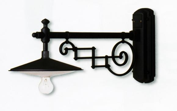 Wall lamp with flat Classical exterior wall lighting