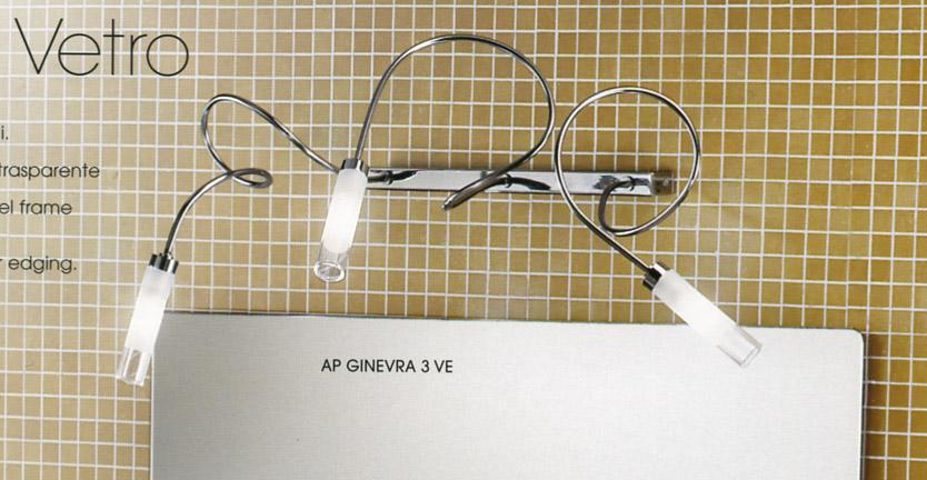GINEVRA AP3 VE REGLETTE SEMIRIGIDA Bathroom mirror lights